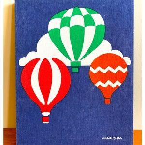Rare Marushka art print hot air balloons